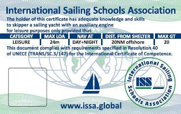 Inshore Skipper - ISSA International Sailing School Association