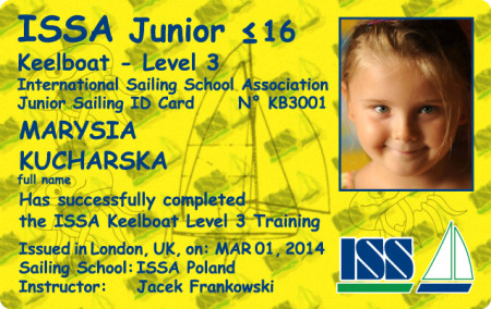 For more details about ISSA Keelboat Certificate go to www.issa-schools.org